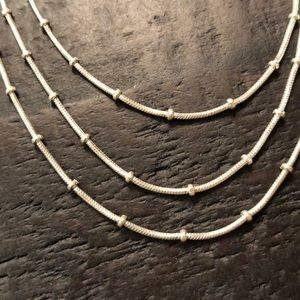 Jewelry - Sterling silver three layered necklace New